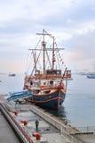 圣塔玛丽亚巡航,大阪海湾,日本 免版税库存照片