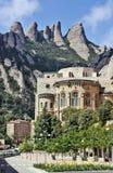 修道院圣塔玛丽亚de蒙特塞拉特岛,卡塔龙尼亚,西班牙。 库存照片