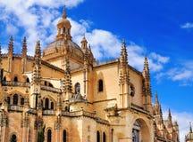 圣塔玛丽亚de Segovia,西班牙 库存图片