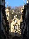 圣塔玛丽亚del Coro, Donostia (巴斯克国家(地区)) 免版税图库摄影