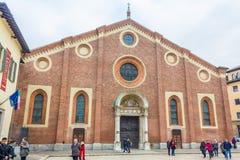 圣塔玛丽亚delle Grazie 免版税库存图片