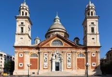 圣塔玛丽亚di Carignano在热那亚 免版税库存图片