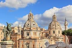 圣塔玛丽亚di Loreto教会。 罗马,意大利。 免版税图库摄影