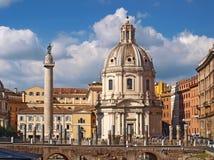 圣塔玛丽亚di Loreto 意大利罗马 库存照片