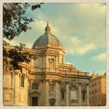 圣塔玛丽亚Maggiore教会详细资料 图库摄影