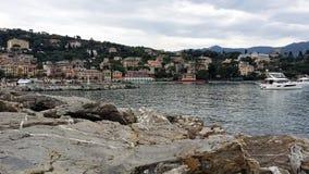 圣塔玛加丽塔,地中海美丽的镇的蚂蚁 意大利 免版税库存照片