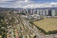 圣塔菲鸟瞰图在墨西哥城 库存图片