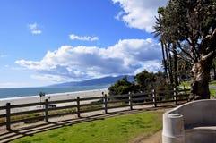 圣塔蒙尼卡海岸 库存照片