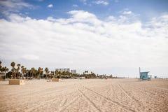 圣塔蒙尼卡海滩前面 免版税库存照片