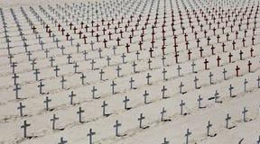 圣塔蒙尼卡海滩的,加利福尼亚纪念公墓 免版税库存照片