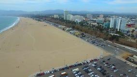 圣塔蒙尼卡海滩空中录影  股票视频