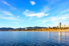 圣塔蒙尼卡海滩 库存照片