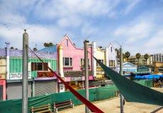 圣塔蒙尼卡码头, 2017年8月12日, -圣塔蒙尼卡,洛杉矶, LA,加利福尼亚,加州 免版税库存图片
