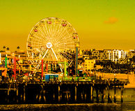 圣塔蒙尼卡码头加州 库存图片