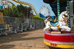圣塔蒙尼卡码头游乐园在LA的 库存照片
