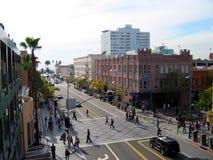 圣塔蒙尼卡第三街道散步,圣塔蒙尼卡,加利福尼亚,美国 免版税图库摄影