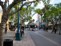 圣塔蒙尼卡第三街道散步,圣塔蒙尼卡,加利福尼亚,美国 图库摄影