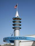 圣塔蒙尼卡警察 库存照片