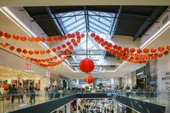 圣塔阿尼塔购物中心内部看法  免版税库存图片