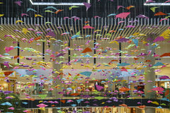 圣塔阿尼塔购物中心内部看法  库存图片