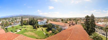 圣塔巴巴拉全景  库存照片