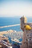 圣塔巴巴拉城堡,西班牙 免版税库存照片