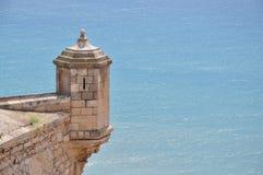 圣塔巴巴拉城堡  免版税库存照片