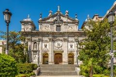 圣塔巴巴拉教会在马德里 免版税库存图片