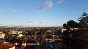 圣塔巴巴拉从上面 免版税图库摄影