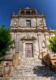 圣塔Chiara教会恩纳,西西里岛,意大利 免版税图库摄影