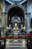 圣塔Maria del Popolo大教堂的内部  意大利罗马 免版税库存照片