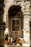 圣塔Maria del Popolo教会 正确的走道 罗马 意大利 免版税图库摄影