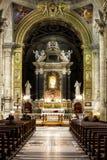 圣塔Maria del Popolo教会 罗马 意大利 库存照片
