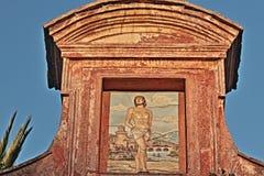 圣塞巴斯蒂亚诺教会在罗马 详细资料 免版税库存照片