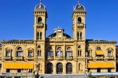 圣塞巴斯蒂安,西班牙市议会  库存图片