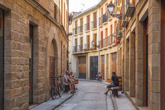 圣塞瓦斯蒂安在西班牙 库存照片