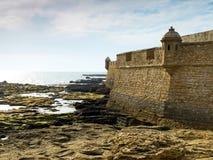 圣塞瓦斯蒂安城堡 卡迪士,安大路西亚 西班牙 免版税库存照片
