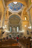 圣塞瓦斯蒂安教会内部在马瑙斯 免版税库存图片