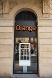 圣塞瓦斯蒂安,西班牙- 10月17 :20的10月07日,橙色商店 免版税库存图片