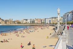 圣塞瓦斯蒂安, Donostia,基普斯夸省,巴斯克国家,西班牙Novembe 免版税库存照片
