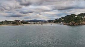 圣塞瓦斯蒂安, Donostia,西班牙 免版税图库摄影