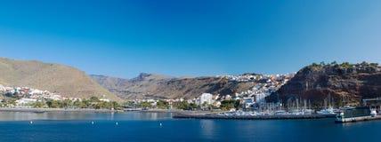 圣塞瓦斯蒂安de戈梅拉岛全景 免版税库存图片