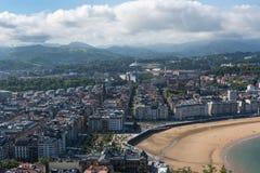 圣塞瓦斯蒂安Donostia市,西班牙 免版税图库摄影