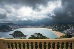 圣塞瓦斯蒂安Donostia,巴斯克国家,西班牙 免版税库存图片