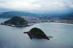 圣塞瓦斯蒂安Donostia,巴斯克国家,西班牙 免版税库存照片