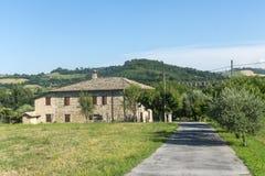 圣塞韦里诺马尔凯(意大利) 库存照片