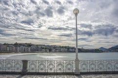 圣塞巴斯蒂安海滩,西班牙 免版税库存图片