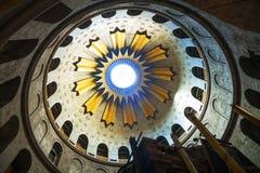 圣墓教堂的内部 库存图片