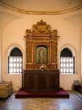 圣多明哥大教堂内部  免版税图库摄影