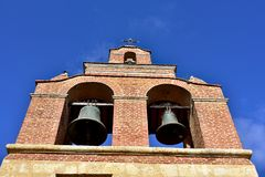 圣多明哥大教堂的响铃  库存图片